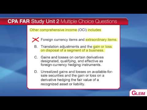 CPA Exam - Comprehensive Income/OCI Video Lecture