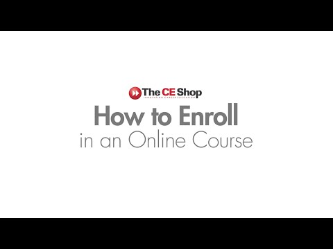 How to Enroll in a Course | The CE Shop