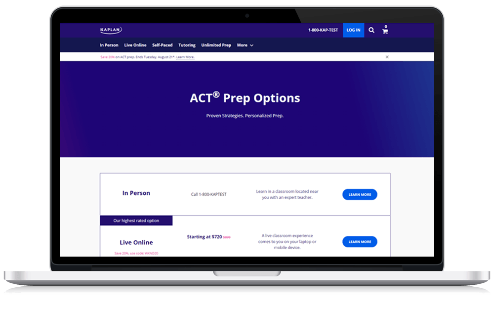 Kaplan ACT Prep Review Courses
