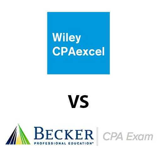 Becker CPA ግምገማ በተቃርኖ wiley cpaexcel