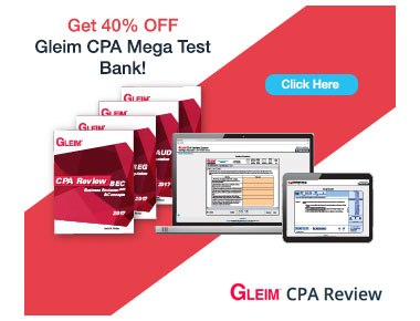 Gleim CPA 2017 Mega Test Bank 40% Off