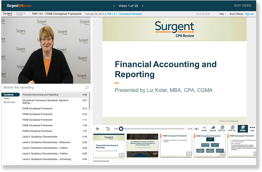 surgent cpa video lectures
