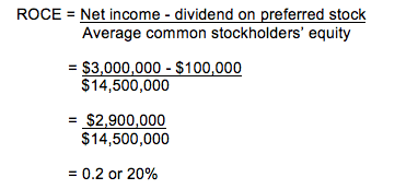 Return on Common Stockholders Equity Calculation