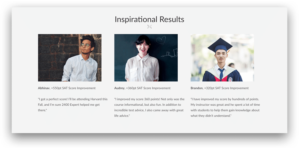 Prep Expert SAT Review Course Results