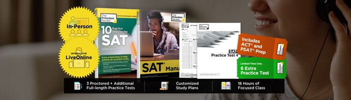 The Princeton Review SAT Prep course review study materials