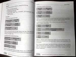 CMA Exam Textbook Pages