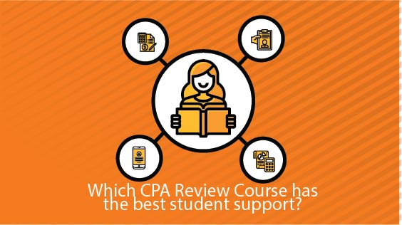 which cpa review course has the best student support