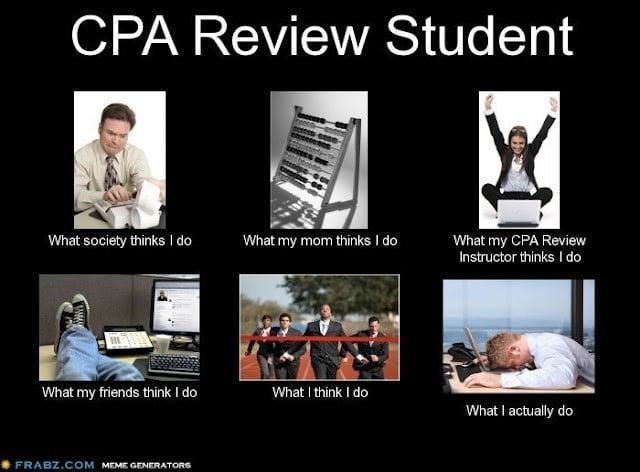 CPA Jokes Review Student Meme