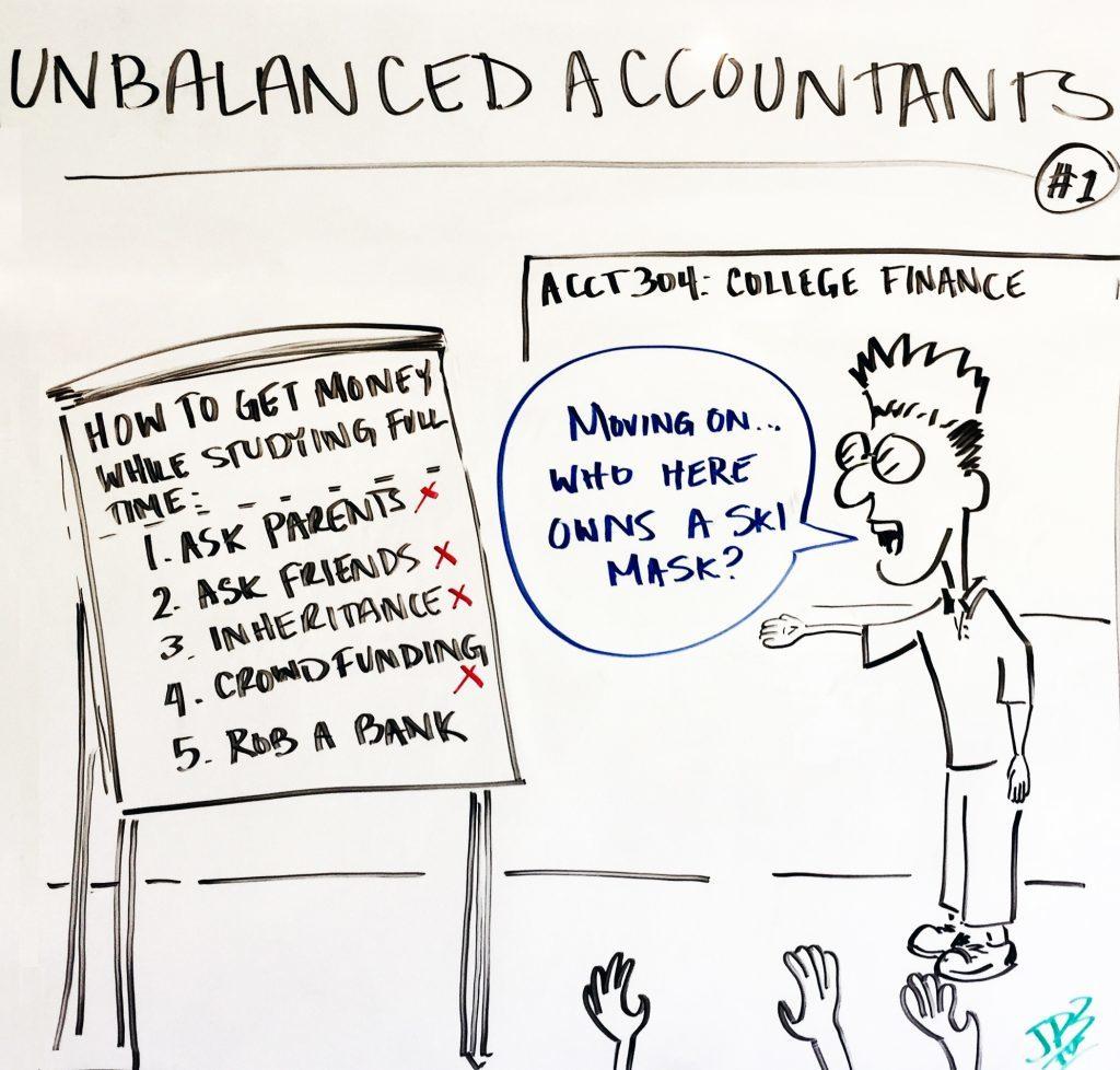 CPA Jokes - Unbalanced Accountant
