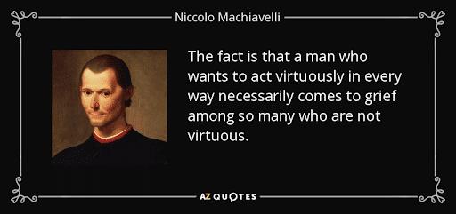 Niccolo Machiavelli Quote